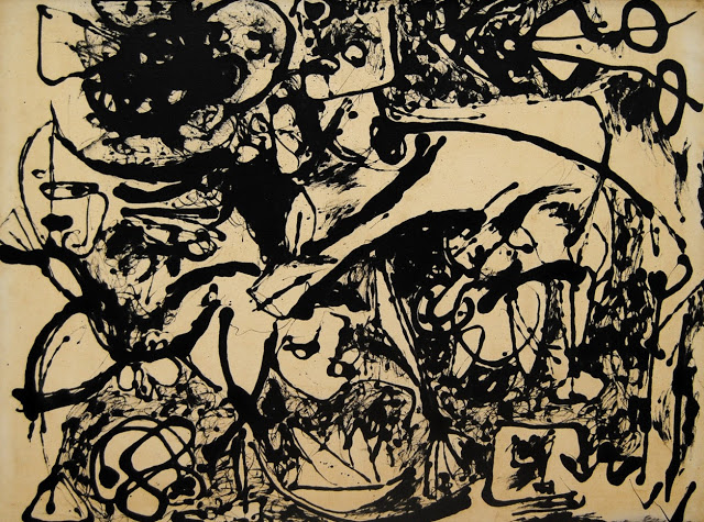 No. 8, Black Flowing, Jackson Pollock